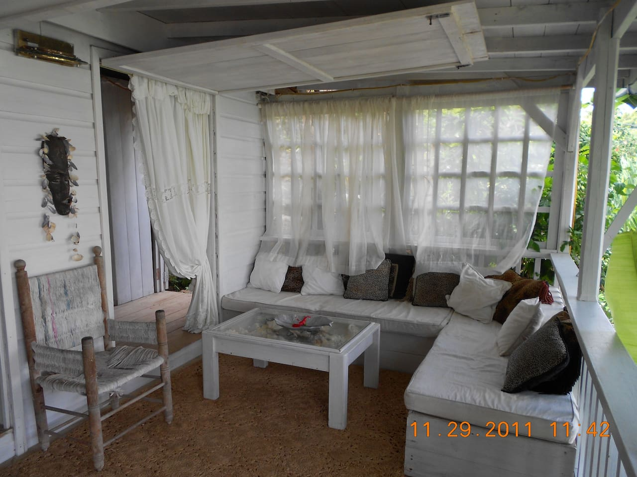 The lounge area in Rum Jungle at The Pineapple House Property, Antigua, West Indies.