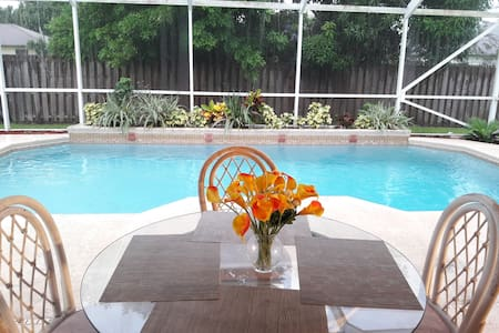 Beautiful Master Bedroom - Cozy Pool Home - Port St. Lucie
