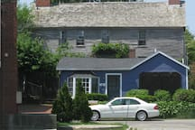 Surrounded by historic homes; all off street parking in the area is free and plentiful