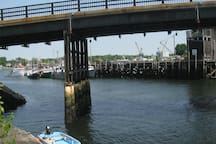 View across the street looking at the commercial fish pier