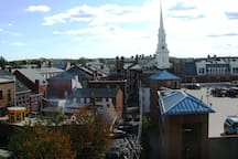 The beautiful downtown of Portsmouth, all a short walking distance