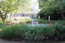 Prescott Park with it's gardens, arts festival, concerts and public docks are within view