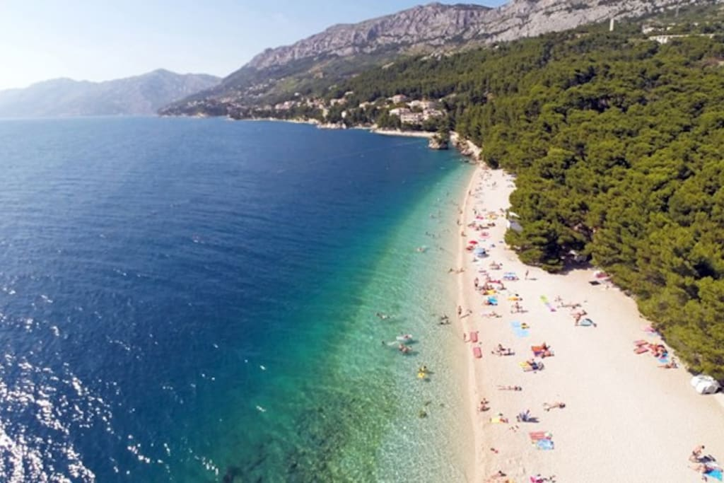 Punta rata beach ,one of the most beautiful beaches in Europe .