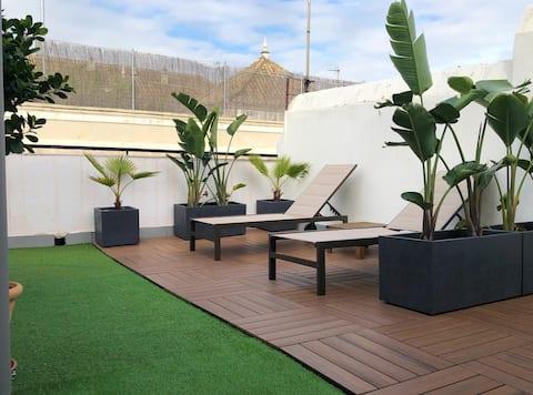 New Attic-Studio, 2 Terraces, in Santa Cruz
