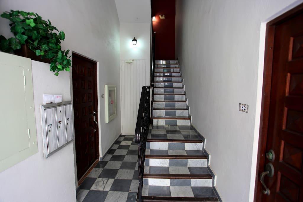 Classic marble tiled floors