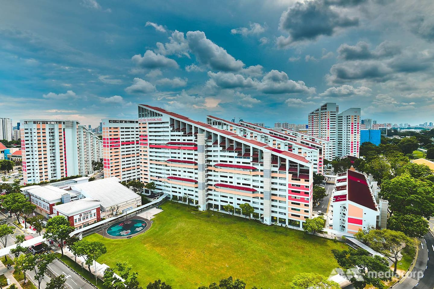 Ski slope architecture trademark in central SG @ Potong Pasir