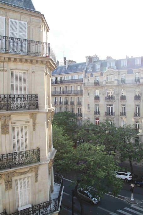 The view from the living room: Avenue Wagram