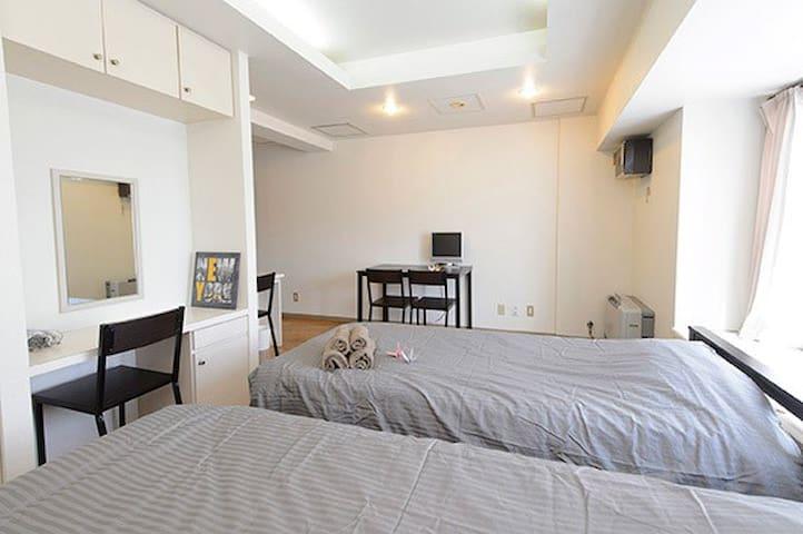 薄野站附近舒适公寓,靠近狸小路,交通便利,环境舒适, DP602