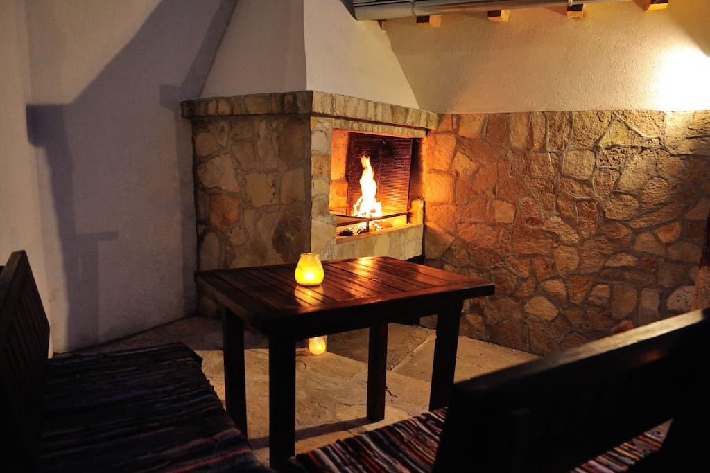 Hotel area- fireplace