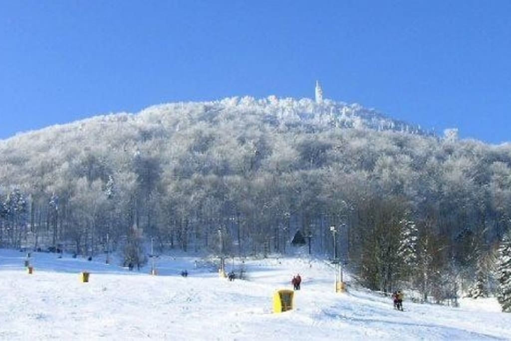 Ski-helling  Lausche Waltersdorf / slope Lausche Waltersdorf