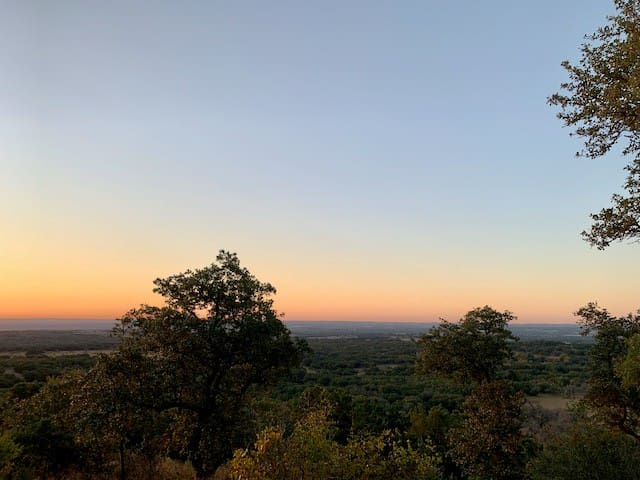 View from the ridge, dawn.