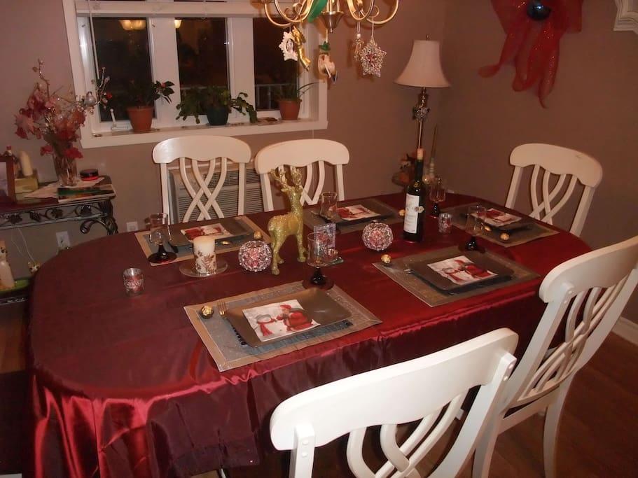 Agréable salle à manger