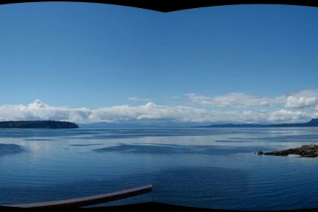 waterfront view are from texada, to south Thormandby and across to vancouver island