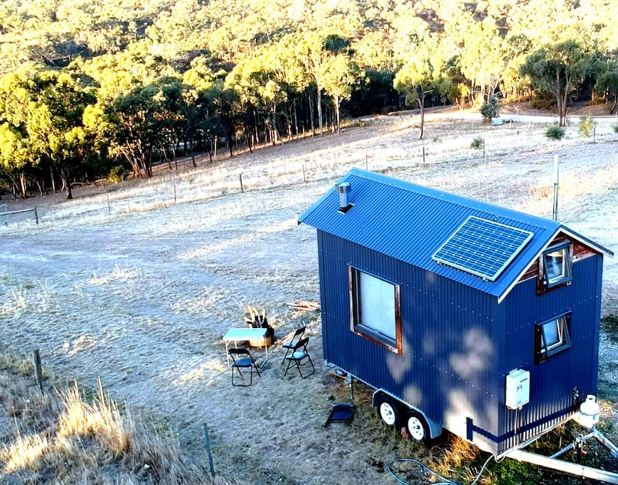 Big Tiny Seven Hills Tallarook Farm Stay Tiny House at Melbourne Australia Best View