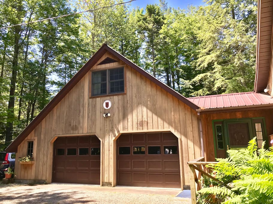 Front view of Bunkhouse over garage