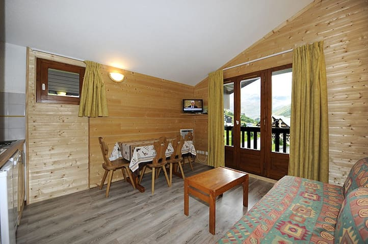 Apartment 2 rooms, 26 m² for 4 people.