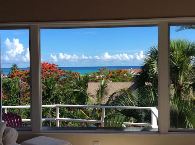 Hilltop home with ocean view & pool - Nassau