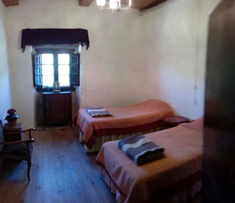 The double room,  with two separate beds. Additional bed can be fitted.