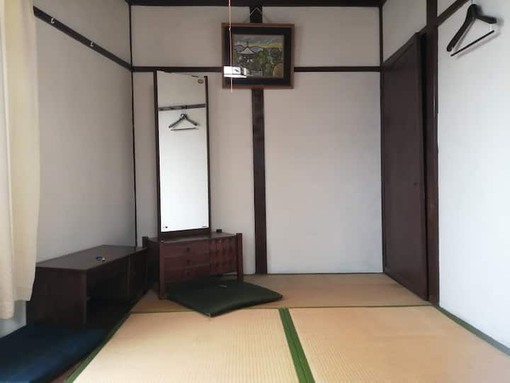 Japanese style room with window. viewing Sakura.