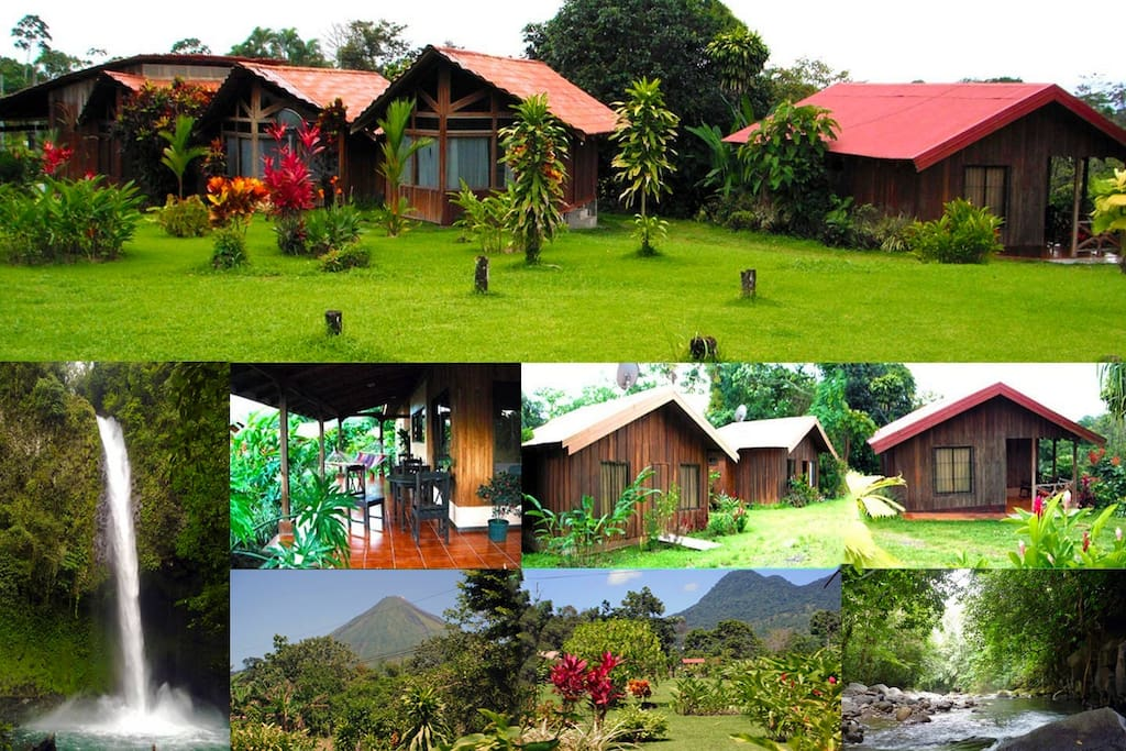 Private 1,2 and 3 bedroom Cabins, La Fortuna Costa Rica