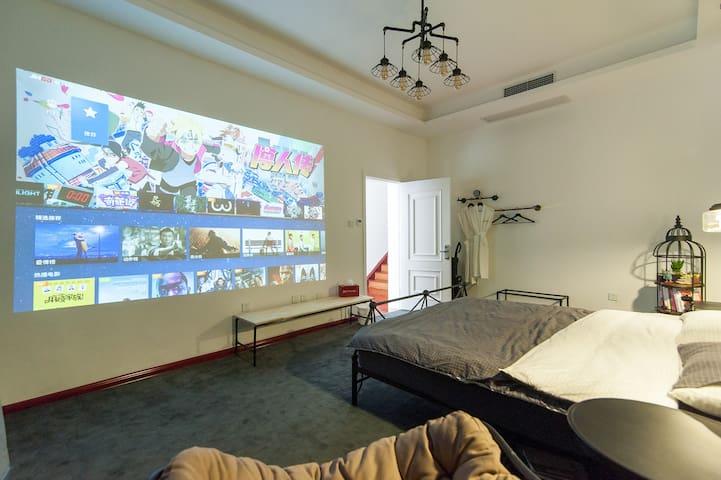 卧室开投影后效果