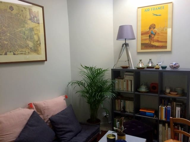 A room for two in a small cosy flat - gare du Nord