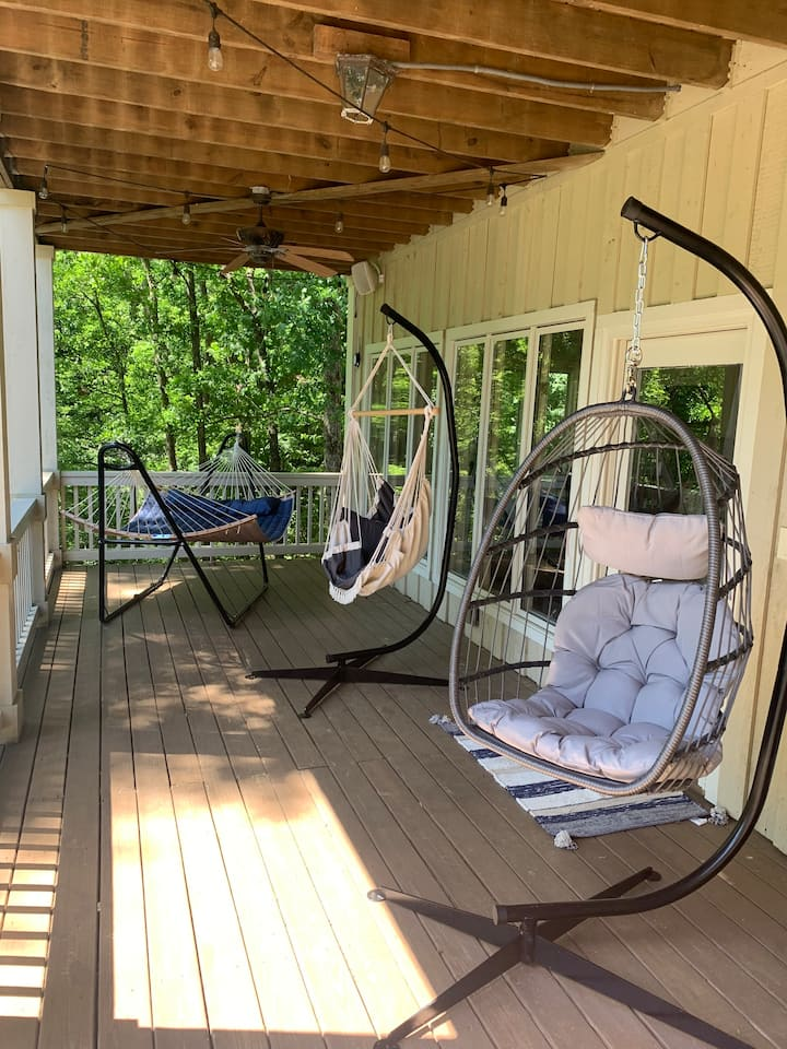 Hammocks for 4 people. We are adding more.