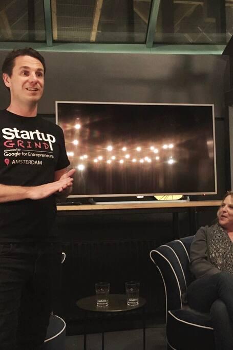 Your host, hosting a Startup Grind event
