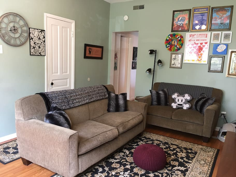 Couch and/or floor space w/ twin air mattress available for extra charges