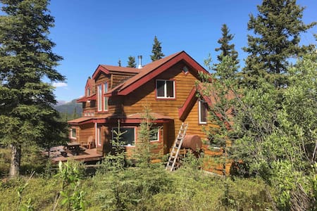☆Denali Sunset House-wild views, creature comforts
