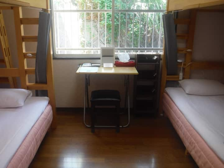 【1日1組限定】 女性専用 新型コロナ対応 二段ベッドのお部屋貸切プラン