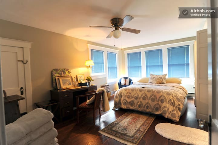 Your own private hideaway. Your room is the only one on the second floor.  Great for peace and privacy.