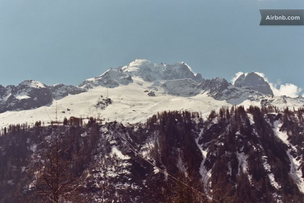 View on the Famous Grands Montets slopes