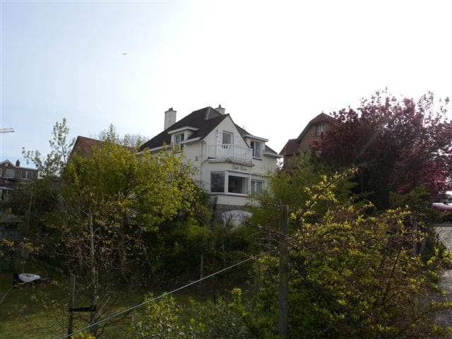 View of the house from the quiet lane.