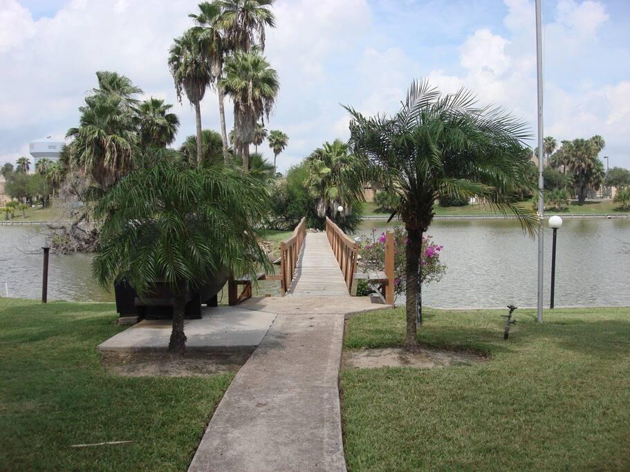 Bridge to the resaca island