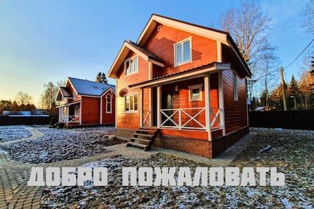 Уютный коттедж 6 человек 150м. от Ладожского озера