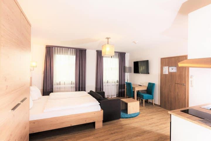 Hotel Stadtvilla Central (Schweinfurt), Modernes Studio mit eigener Kochgelegenheit
