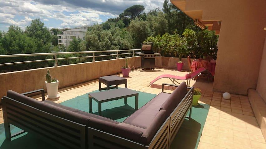 Beau t2 avec une terrasse de 50m2 - Bastia - Apartment