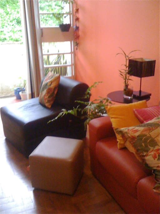 Living room is wide and bright.