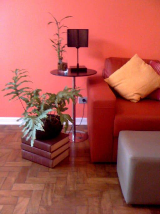 Living room's cozy spot.