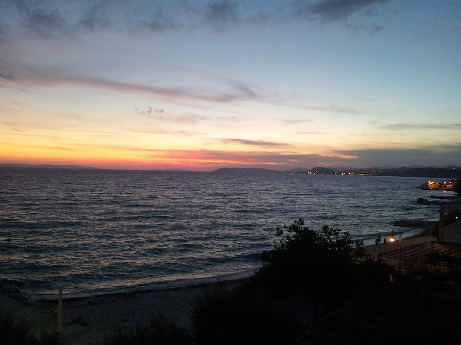 treat yourself to a walk along the beach just minutes after the sun has set into the blueness of the Adriatic!