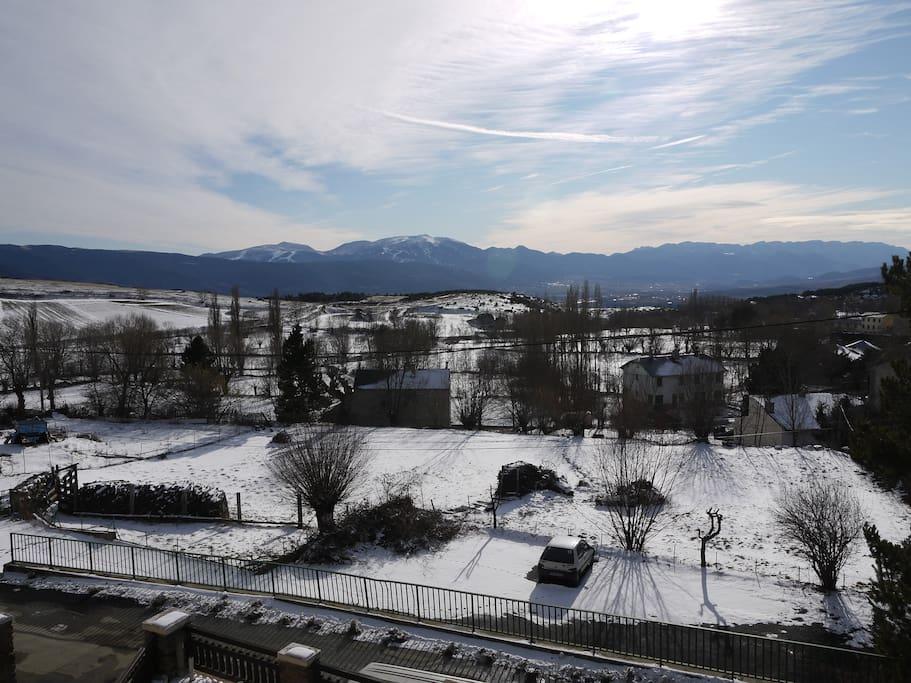 terrasse vue d'hiver