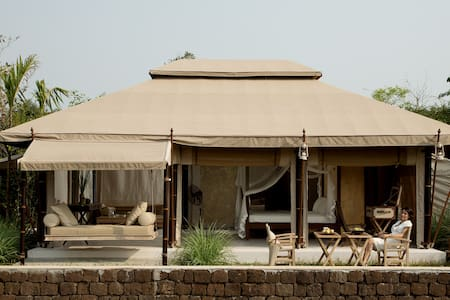 THE BEIGE -Luxury Tent 5m * 7.5m-