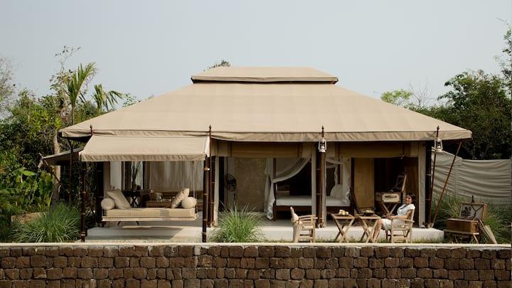 THE BEIGE -Luxury Tent 5m * 7.5m-