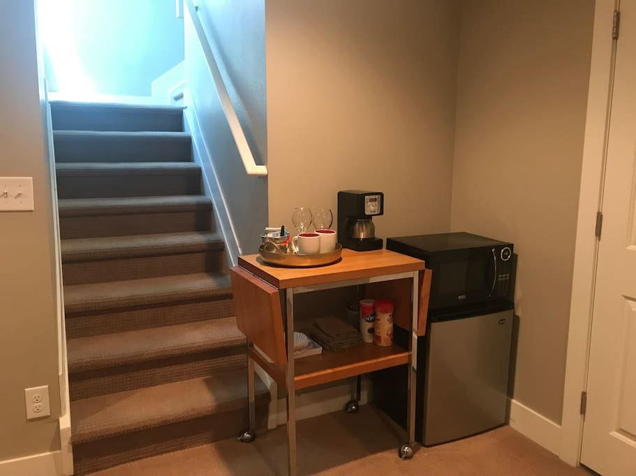 Coffee Machine, Microwave, Fridge