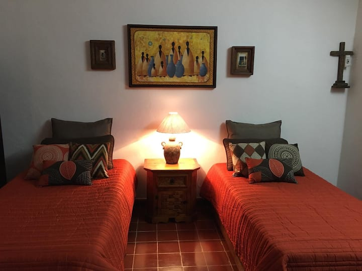 5 STAR room right across Cenote Zaci downtown area