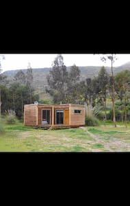 Cabaña con hermosa vista a la naturaleza del Valle