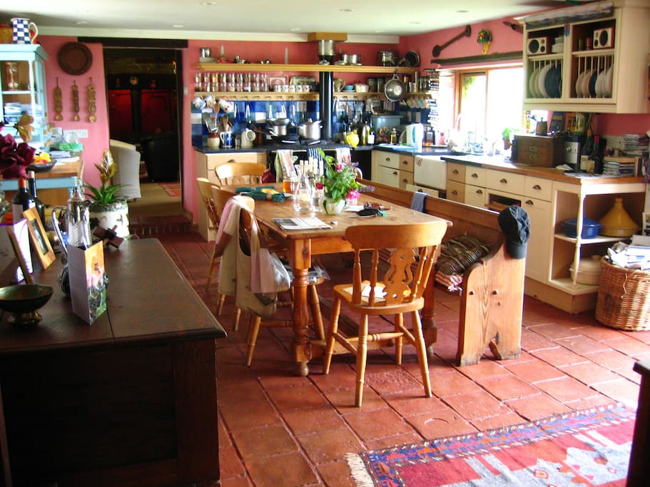 The engine room of the house - our large kitchen.
