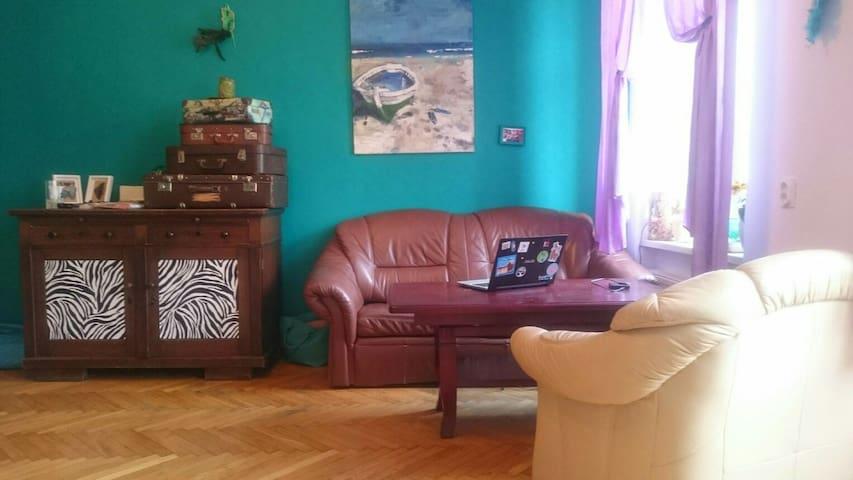 Huge room with balkony - Wrocław  - Apartamento