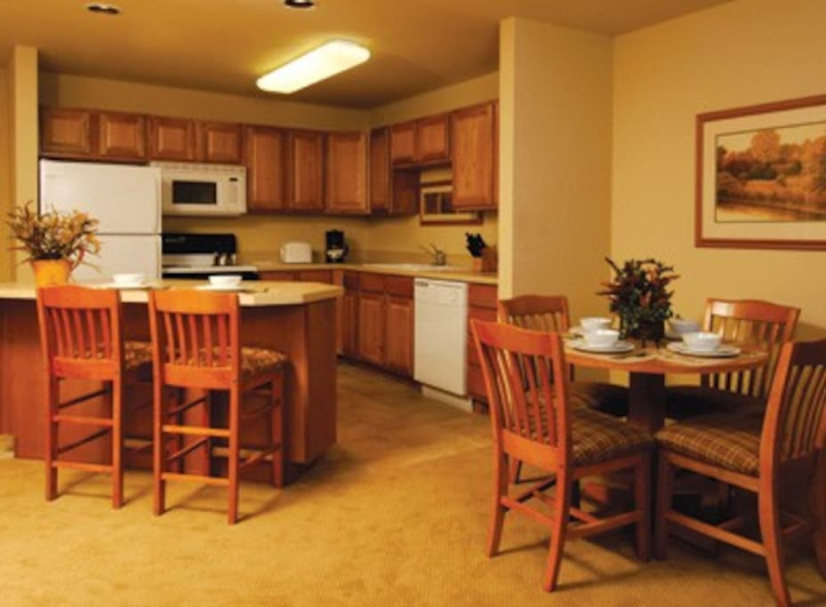 Full kitchen in all units.  This is not unit specific and only denotes style and decor of all the units.